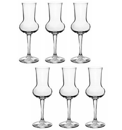 Bicchieri originali ampolla per grappa o liquori