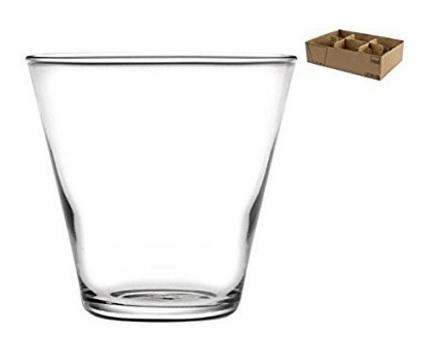 Bicchieri in vetro elegante e classico 6 pezzi
