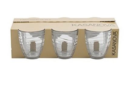 Bicchieri mexico classici con righe trasparenti