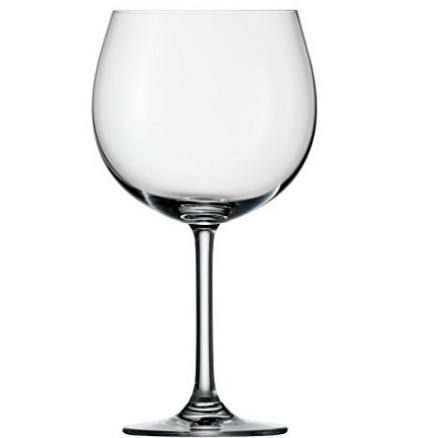 Bicchieri in vetro stile vino rosso a forma di ampolla