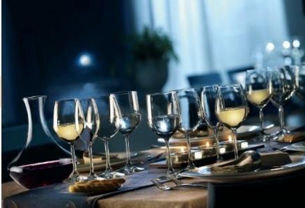 Bicchieri vino divino set da 6 pezzi