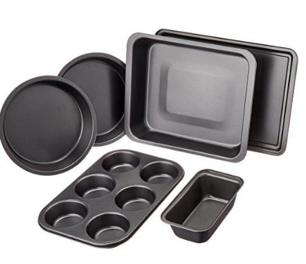 Teglie diverse set da forno in acciaio