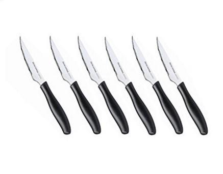 Coltelli da bistecca set da 6 pezzi dal colore nero