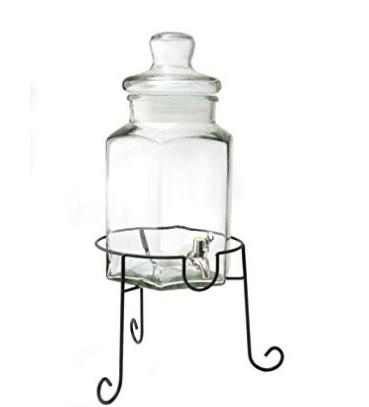 Contenitore per bevande con rubinetto grande in vetro