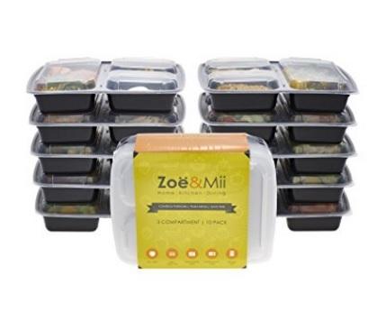 Contenitori alimentari riutilizzabili 3 scomparti