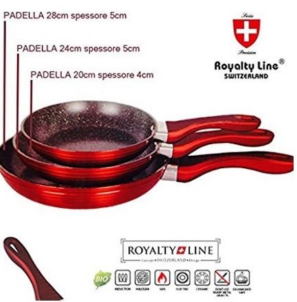 Padella in pietra dal design rosso per la cucina