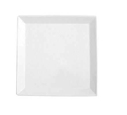 Piatto per portata classico e bianco quadrato