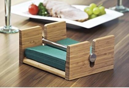 Portatovaglioli moderno e unico in bambù