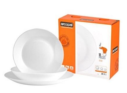 Servizio di piatti per la tavola bianco
