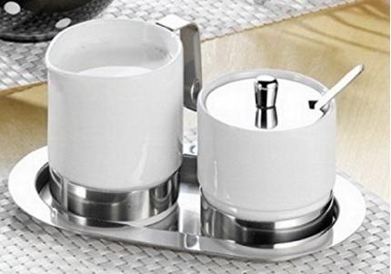 Set in porcellana per zucchero e latte