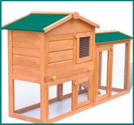 Grande gabbie di legno per conigli nani