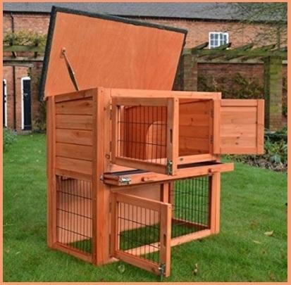 Gabbie professionale di legno per conigli grandi sconti for Piani domestici su ordinazione arizona