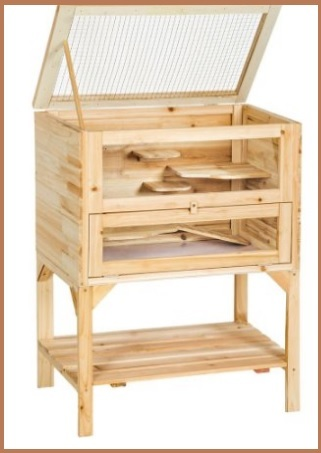 Gabbietta per esterni in legno per roditori e altri animali