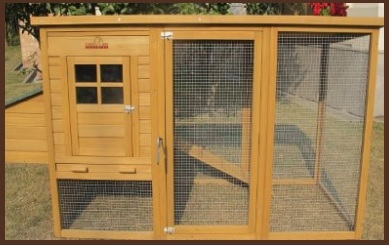 Gabbia in legno grande per esterni per galline