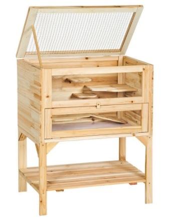 Gabbia in legno alta per conigli