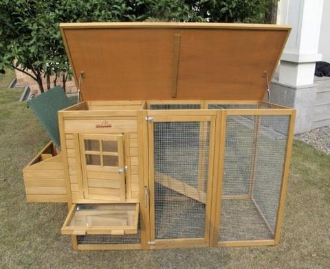 Gabbia Grande In Legno Con Nido Per Conigli E Altri Animali