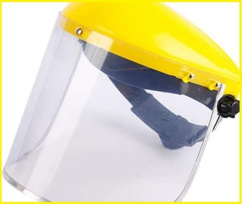 Caschetto con visiera trasparente resistente