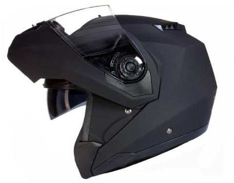Casco integrale per motocicletta nero opaco