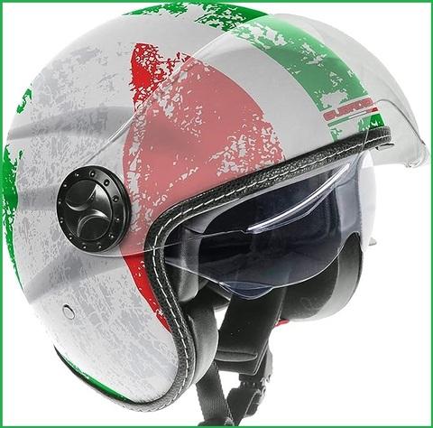 Casco scooter sportivo con la bandiera italiana