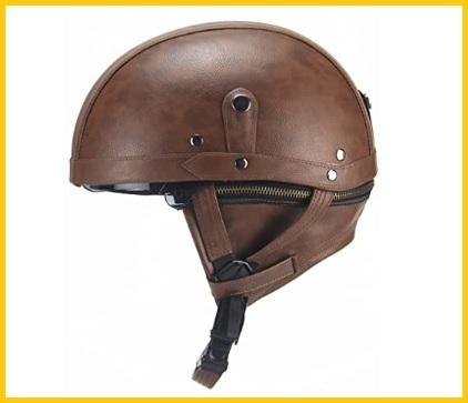 Casco in pelle elegante con visiera per moto