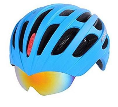 Caschetto sportivo con occhiali compresi mtb