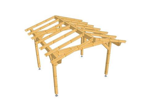 Tetto in legno due falde