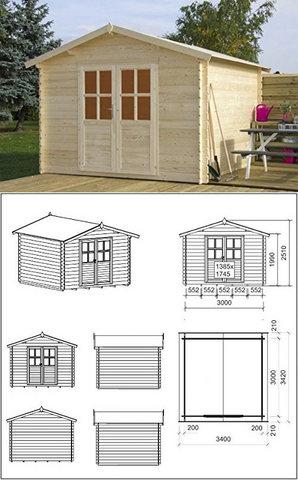 Piccole case in legno prefabbricate