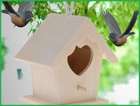 Casetta per uccelli legno