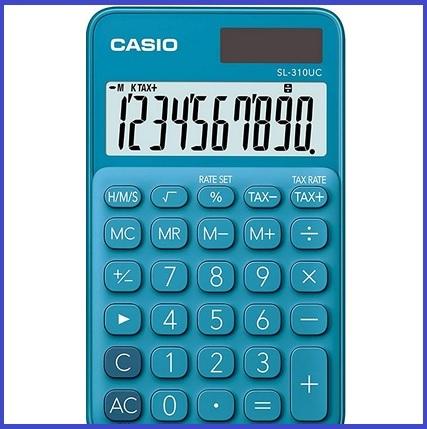 Casio orologio calcolatrice blu