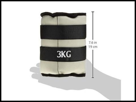 Cavigliere pesi 3 kg l'una