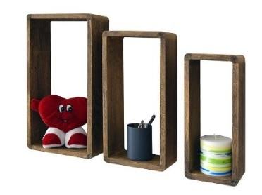 Libreria in legno set da 3 mensole