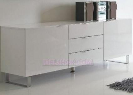 Mobile soggiorno moderno bianca lucida