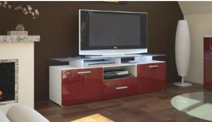 Mobile salotto laccato lucido rosso