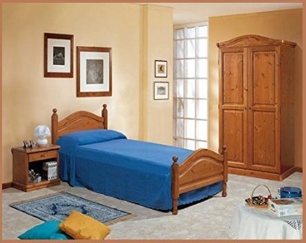 Camera matrimoniale con letto sfoderabile