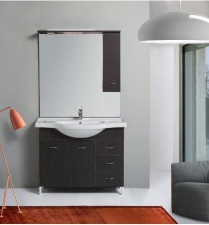Mobile con specchiera arredo completo bagno