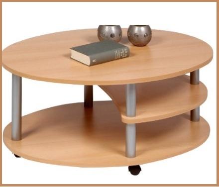 Tavolini in faggio ovale