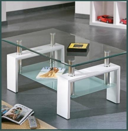 Tavolini con piano in alluminio