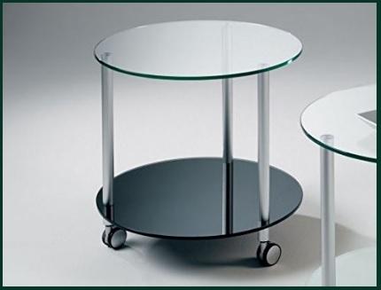 Tavolini tondi piano in vetro