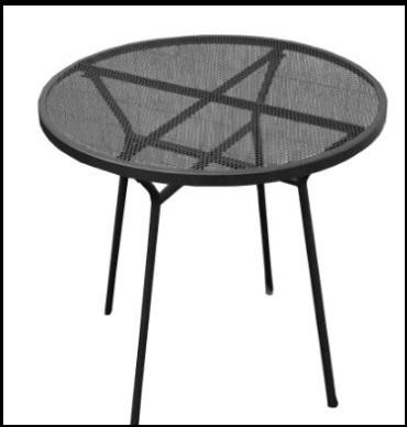 Tavolino In Ferro Verniciato
