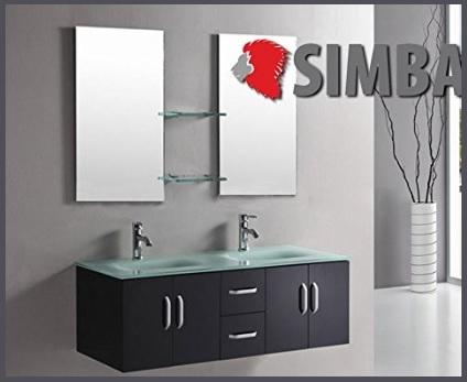 Mobile bagno nero con piano in vetro rosso grandi sconti centro arredamenti moderni - Bagno conti cesenatico ...