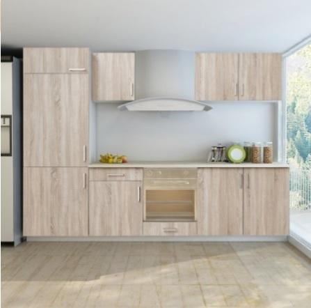 Cucina moderna marrone quercia