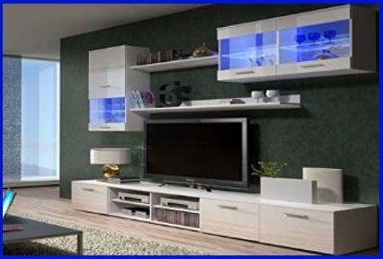Mobile soggiorno moderno tiglio grigio