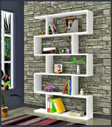 Libreria moderna tre colori