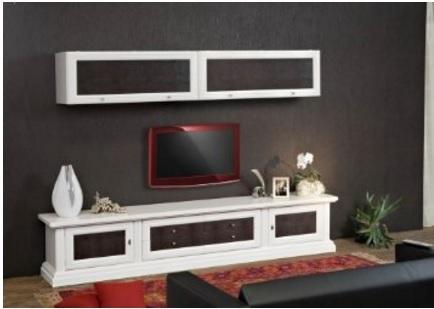 Arredo classico parete attrezzata per soggiorno