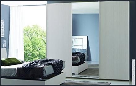 Armadio bianco e specchio 3 ante scorrevoli