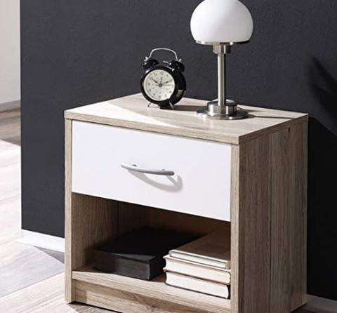 con 2 Spaziosi Cassetti COMIFORT Comodino Molto Resistente di Colore Nordic Tavolino per la Camera da Letto in Stile Nordico Moderno e Minimal