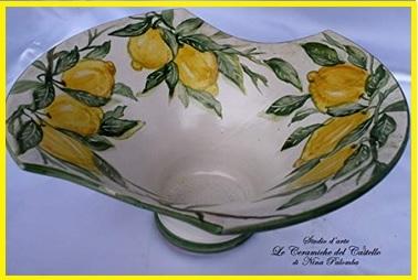Ceramica Artistica Centrotavola Limoni
