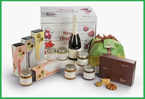 Cesta in regalo con prodotti siciliani per natale