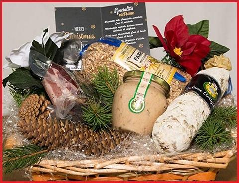 Confezioni natalizie con prodotti