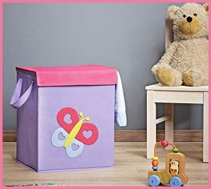 Contenitore per giocattoli con coperchio bambini